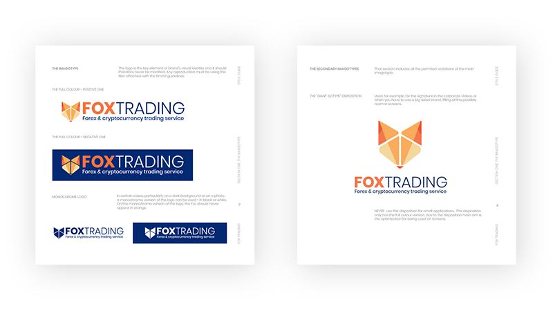branding logo design fox trading